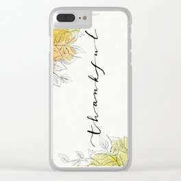 THANKFUL LEAFS Clear iPhone Case