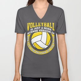 Volleyball Player Gift Version of Don't Let Balloon Hit Floor Volleyball Unisex V-Neck