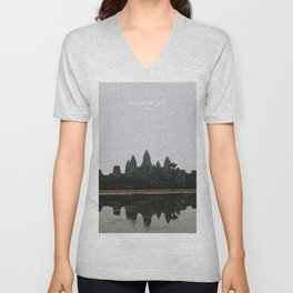 Angkor Wat, Cambodia Travel Artwork Unisex V-Neck