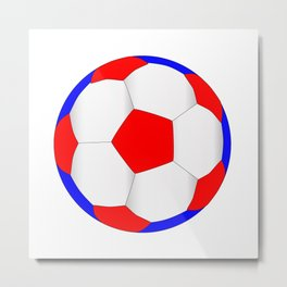 Red White And Blue Football Metal Print
