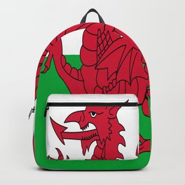 Flag of Wales,uk,great britain,dragon,cymru, welsh,celtic,cymry,cardiff,new port Backpack