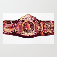 nba Area & Throw Rugs featuring NBA CHAMPIONSHIP BELT by mergedvisible