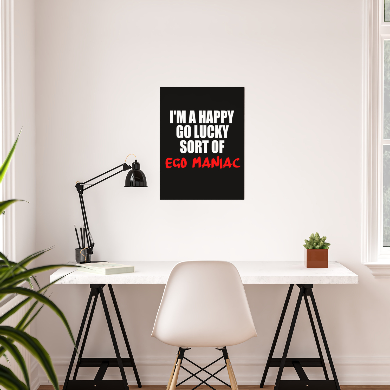 ego maniac funny sayings and quotes poster by wordart society