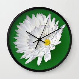 Repeated daisy Wall Clock