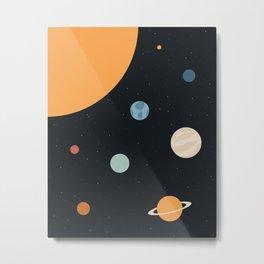 Minimal Space Metal Print