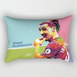 Zlatan Ibrahimovic alt-color WPAP Rectangular Pillow