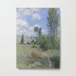 View of Vétheuil Metal Print