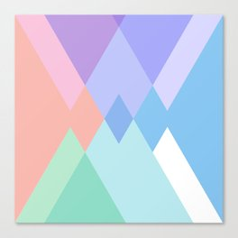 Geometric Pattern in Soft Hues Canvas Print