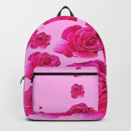 PINK SURREAL TOWERS OF  FUCHSIA PINK ROSES Backpack