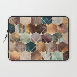 Natural Hexagons And Diamonds Laptop Sleeve