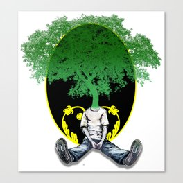 Tree Head Canvas Print