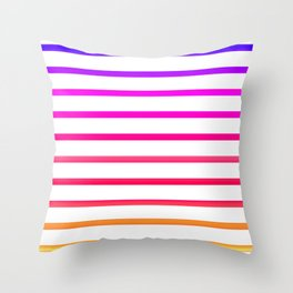 Warm lines Throw Pillow