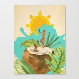 Coconut Milk Party Canvas Print