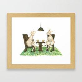 Sheep knitting Framed Art Print