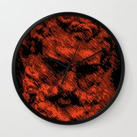 hercules Wall Clocks featuring Hercules face. Digital Illustration by Chris Lopez Studio