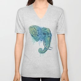 Elephant Portrait Unisex V-Neck