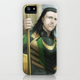 Thor 2 - Loki Print iPhone Case
