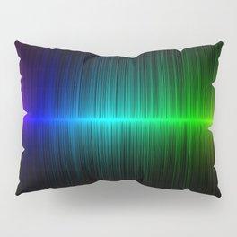 Rainbow Radio Waves Horizontal Line Vertical Stripes - Artwork Pillow Sham