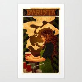 Art Nouveau Barista Art Print