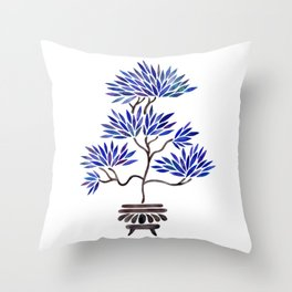 Bonsai Tree – Navy Palette Throw Pillow
