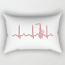 SAXOPHONE HEARTBEAT Rectangular Pillow