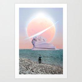 Ice Berg View Art Print