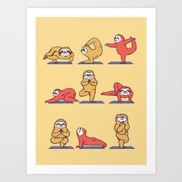 Sloth Yoga Kunstdrucke