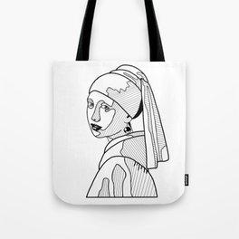 La jeune fille à la perle Tote Bag