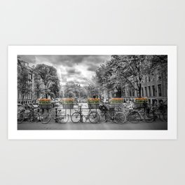 AMSTERDAM Gentlemen's Canal | panoramic view Art Print