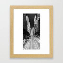 42nd street Manhattan at dawn Framed Art Print