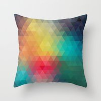 reassurance Throw Pillows featuring Abstract Geometric Pattern by Rothko