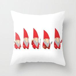 Gnomes Throw Pillow