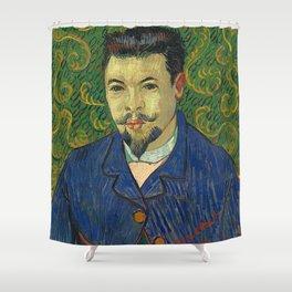 Vincent van Gogh - Portrait of Doctor Félix Rey Shower Curtain