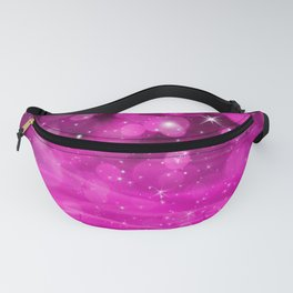 Whimsical Pink Glowing Christmas Sparkles Bokeh Festive Holiday Art Fanny Pack