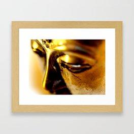 Buddha Face Close Up Framed Art Print