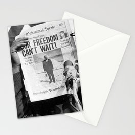 Our Freedom Can't Wait - Malcolm X Stationery Cards