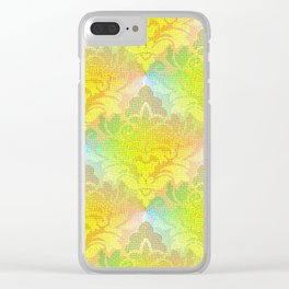 Damask Tapestry Pattern I Clear iPhone Case