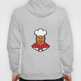 African American Baker Chef Cook Mascot Hoody