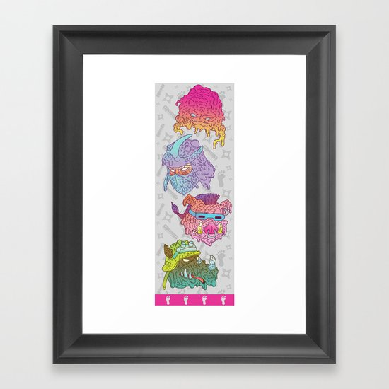 Mutated Clan Framed Art Print