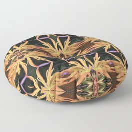 Leaf Study Pattern Floor Pillow