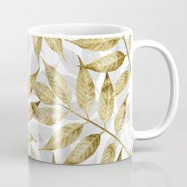 Modern gold autumn leaves design Coffee Mug