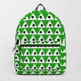 Vintage Vibes Small Geometric Pattern Spring Green and Black Backpack
