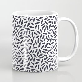 Purple seeds, minimal, leaf, seeds, mid century, abstract, pattern Coffee Mug