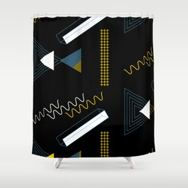 Geometric shapes artistic composition Shower Curtain