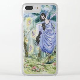 Spirit of the wood original watercolor painting Clear iPhone Case