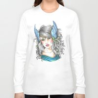goddess Long Sleeve T-shirts featuring Goddess by Little Lost Forest