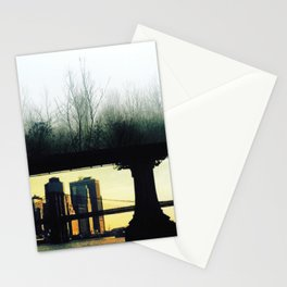 Architecture of Impossible_Green New York Stationery Cards