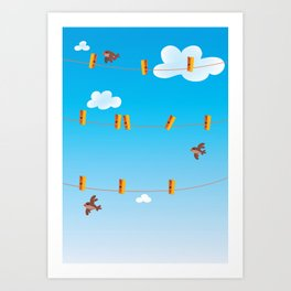 Clouds and Birds Art Print