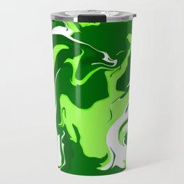 Green Psychedelic Spill Travel Mug
