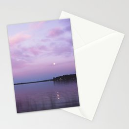 Full Moon Over The Crooked Lake Stationery Cards